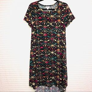 LuLaRoe Geometric Maze Carly Hi Low Swing Dress